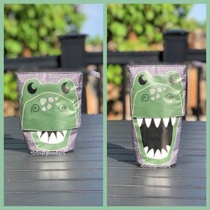 NEW dino hide and peek pouch from 31